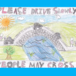 Penny Bridge School artwork speed sign2