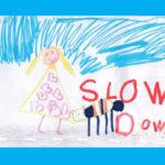 Penny Bridge School artwork speed sign1